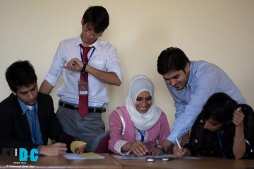L to R: Me, OB, Nida, Muneeb, Faryal working extremely hard